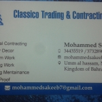 Classico trading and contracting 1